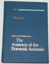 The Anatomy of Domestic Animals veterinary student textbook Edited by Dr. Robert Getty 5th edition ISBN 0721641024