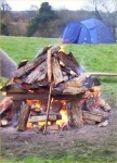 Organising Team and Fire for Heating the Shaman Sweatlodge Stones U.K.